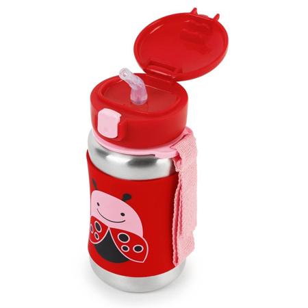 Slika za Skip Hop® Steklenička iz nerjavečega jekla s slamico Pikapolonica
