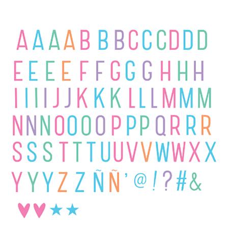 Slika za A Little Lovely Company® Lightbox različiti setovi slova - Pastel