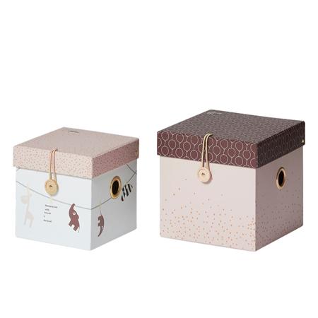 Slika za Done by Deer® Set 2 kutije za igračke - Powder