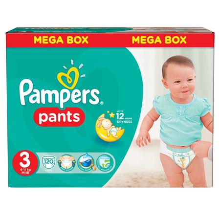 Slika za Pampers® Pelene gaćice vel. 3 (6-11 kg) 120 komada Mega Box