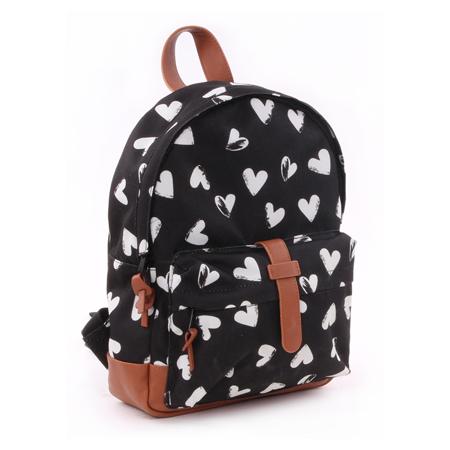Slika za Kidzroom®  Okrugli crni ruksak Srčki