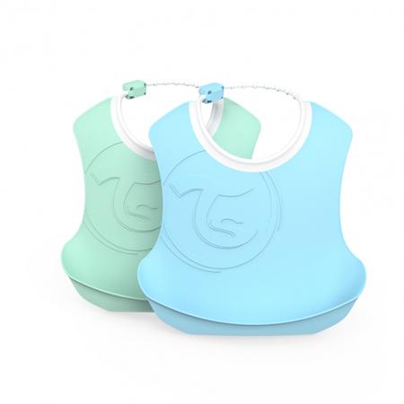 Slika za Twistshake® Dva podbradnjaka Pastel Blue & Green (4+m)