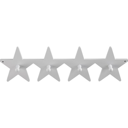 Slika za Kids Concept® Leseni stenski obešalnik Star Grey