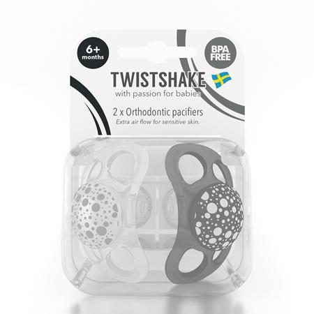 Slika za Twistshake® 2x Duda Black&White (0+/6+) - 6+M
