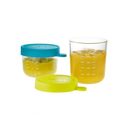 Slika za Beaba® Set 2 steklenih posodic za shranjevanje 150ml in 250ml
