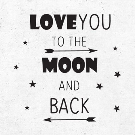 Slika za Pick Art Design® Stenske nalepke Love to The moon