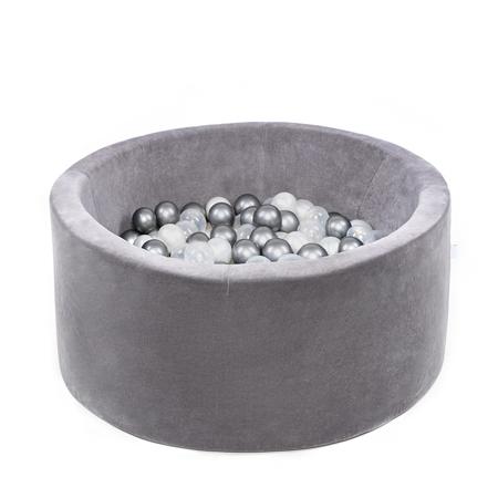 Slika za Misioo® Bazen s kroglicami Grey Velvet Collection