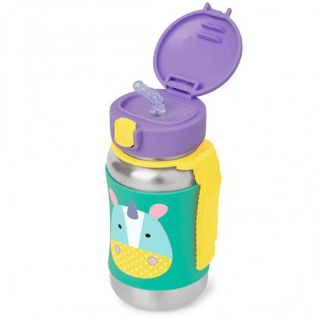Slika za Skip Hop® Steklenička iz nerjavečega jekla s slamico Samorog