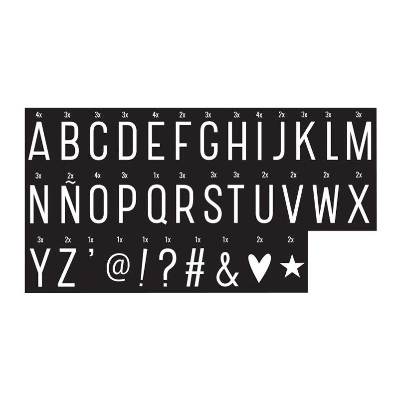 Slika za A Little Lovely Company® Lightbox različiti setovi slova - Monochrome