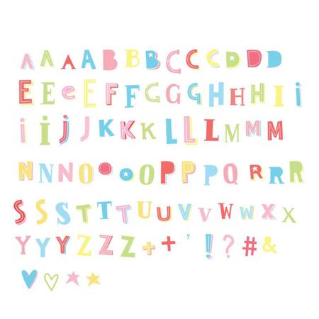 Slika za A Little Lovely Company® Lightbox različiti setovi brojeva - Funky colour