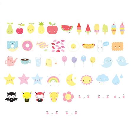 Slika za A Little Lovely Company® Lightbox različiti setovi slova - Kawaii
