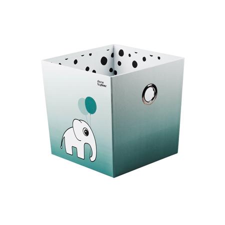 Slika za Done by Deer® Škatla za igračke Happy Dots - Svijetloplava