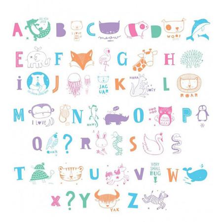 Slika za A Little Lovely Company® Lightbox različiti setovi brojeva - ABC pastel