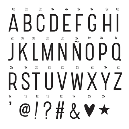 Slika za A Little Lovely Company® Lightbox različiti setovi brojeva - Basic