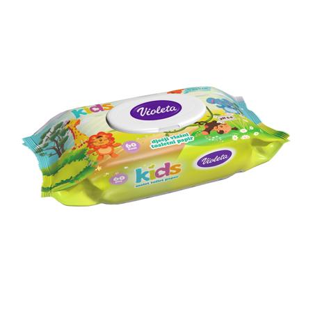 Slika za Violeta® Kids Vlažni toalet papir 60/1