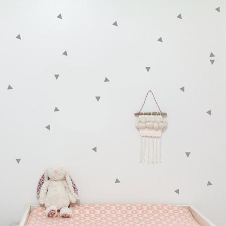 Slika za Pick Art Design® Stenske nalepke Trikotniki Siva