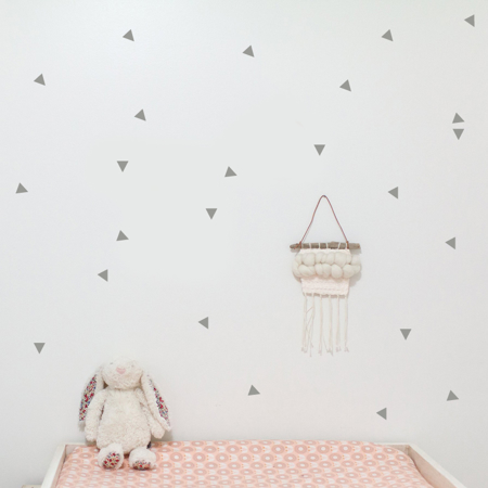 Slika za Pick Art Design® Zidne naljepnice Trokuti Sivi