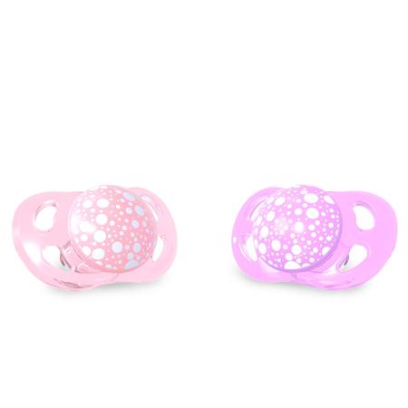 Slika za Twistshake® 2x Duda Pastel Pink&Purple (0+/6+)