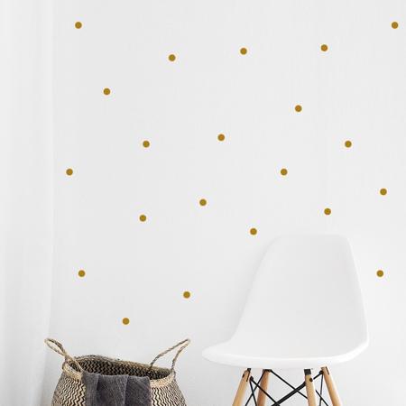 Slika za Pick Art Design® Stenske nalepke Krogci Zlata