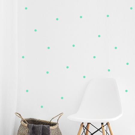 Slika za Pick Art Design® Stenske nalepke Krogci Mint