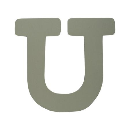 Slika za BamBam® Lesene črke Sive - U