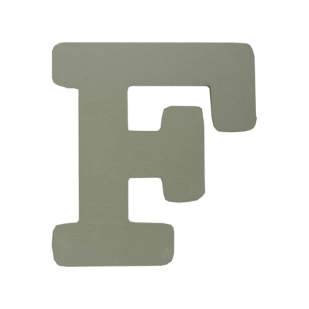 Slika za BamBam® Lesene črke Sive - F
