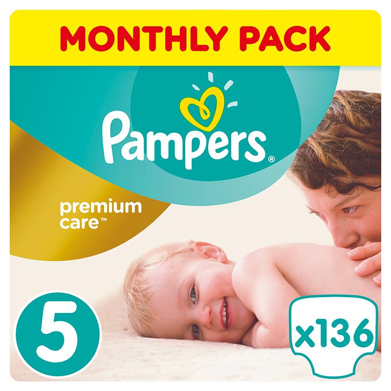 Slika za Pampers® Pelene  Premium Care vel. 5 (11-16 kg) 136 komada Mega Box