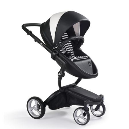 Slika za  Mima® Dječja  kolica s košarom 2u1 Xari Black & White + Starter pack