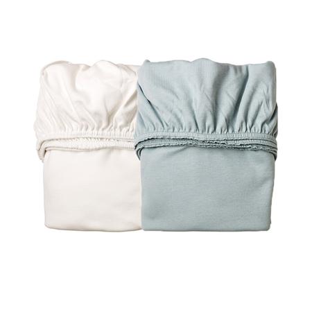 Slika za Leander® Otroška jogi rjuha za zibelko 2 kosa 79x49 White/Blue