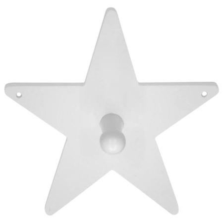 Slika za Kids Concept® Leseni obešalnik Star White