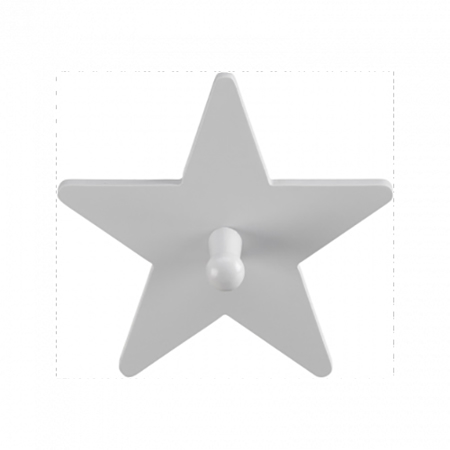 Slika za Kids Concept® Leseni obešalnik Star Grey