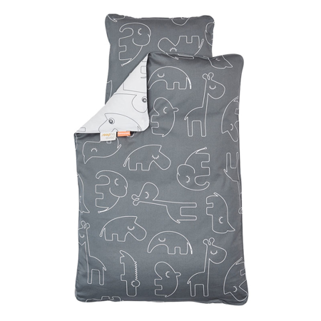 Slika za Done by Deer® Posteljnina Sleepy Grey 70x100 in 100x135