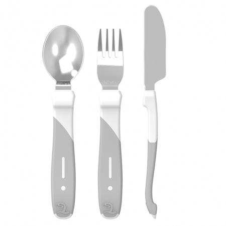 Slika za Twistshake® Pribor za jelo od nehrđajućeg čelika - White