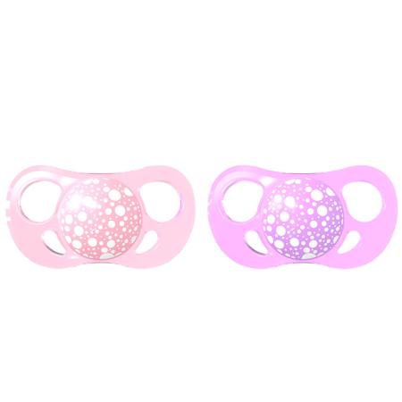 Slika za Twistshake® 2x Duda Pastel Pink&Purple (0+/6+) - 6+M