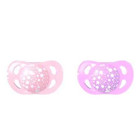 Slika za Twistshake® 2x Duda Pastel Pink&Purple (0+/6+) - 0-6 M