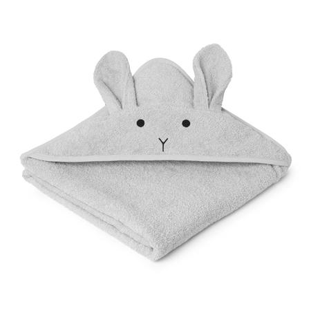 Slika za Liewood® Ručnik s kapom Rabbit Grey Junior 100x100