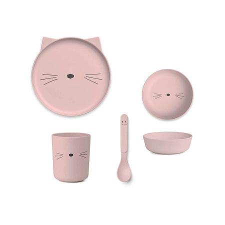 Slika za Liewood® Set za jelo iz bambusovih vlakana Cat Rose