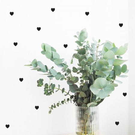 Slika za Pick Art Design® Zidne naljepnice Srca Crna