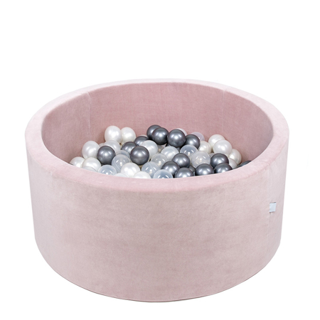 Slika za Misioo® Bazen s kroglicami Light Pink Velvet Collection