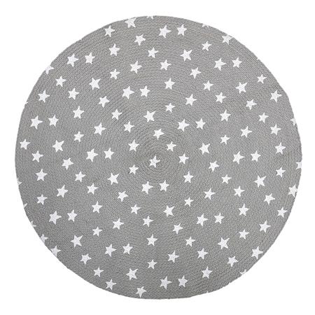 Slika za Bloomingville® Okrogla preproga Zvezdice