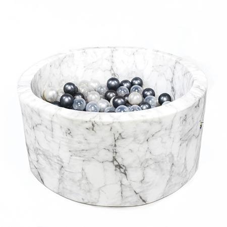Slika za Misioo® Bazen s kroglicami Marble White Velvet Collection