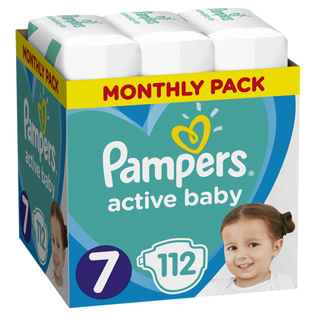 Slika za Pampers® Pleničke Active Baby MP Dry vel. 7 (15+ kg) 112 kosov