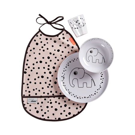 Slika za Done by Deer® Set za hranjenje Happy Dots Powder