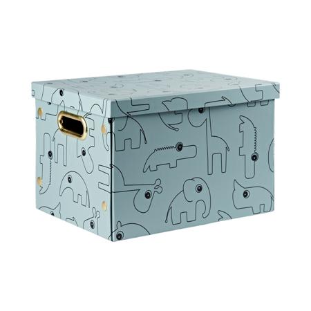 Slika za Done by Deer® Zložljiva škatla za shranjevanje Contour Blue