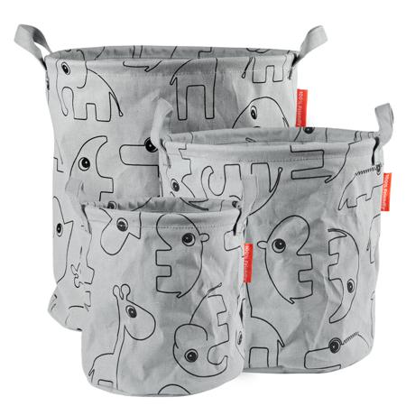 Slika za  Done by Deer®  Mekani koševi za igračke Contour Grey