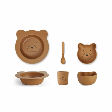 Slika za Liewood® Set za jelo iz bambusovih vlakana Baby Mr Bear Mustard