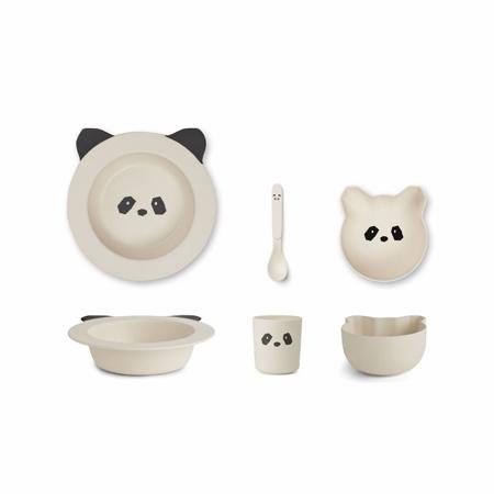 Slika za Liewood® Set za jelo iz bambusovih vlakana Baby Panda