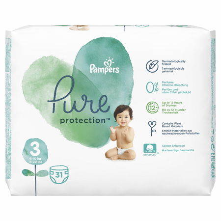Slika za Pampers® Pelene Pampers Pure Protection veličina 3 (6-10 kg) 31 komada