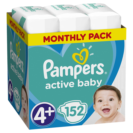 Slika za Pampers® Pleničke Active Baby Dry MP vel. 4+ (10-15 kg) 152 kosov