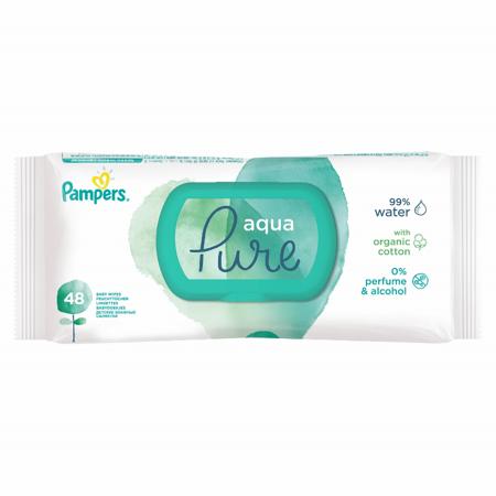Slika za Pampers® Otroški vlažilni robčki Pampers Aqua Pure 48 kosov